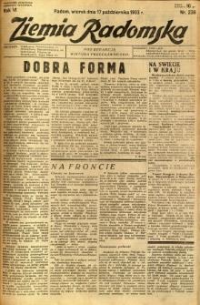 Ziemia Radomska, 1933, R. 6, nr 238
