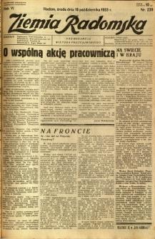 Ziemia Radomska, 1933, R. 6, nr 239