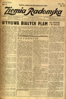 Ziemia Radomska, 1933, R. 6, nr 241