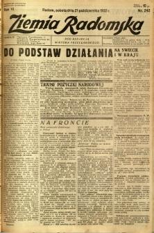 Ziemia Radomska, 1933, R. 6, nr 242