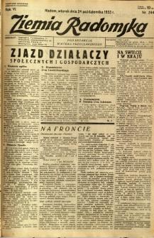 Ziemia Radomska, 1933, R. 6, nr 244