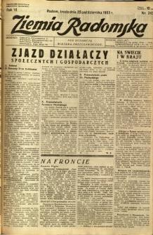 Ziemia Radomska, 1933, R. 6, nr 245