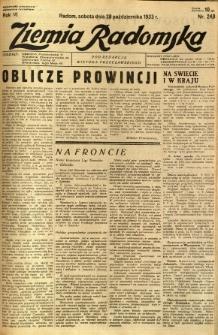 Ziemia Radomska, 1933, R. 6, nr 248