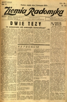 Ziemia Radomska, 1933, R. 6, nr 252
