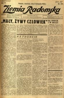 Ziemia Radomska, 1933, R. 6, nr 254