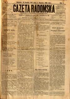 Gazeta Radomska, 1888, R. 5, nr 1