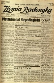 Ziemia Radomska, 1933, R. 6, nr 257