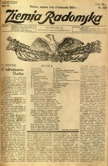 Ziemia Radomska, 1933, R. 6, nr 259