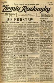 Ziemia Radomska, 1933, R. 6, nr 262