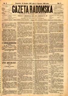 Gazeta Radomska, 1888, R. 5, nr 2