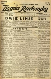 Ziemia Radomska, 1933, R. 6, nr 268