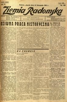 Ziemia Radomska, 1933, R. 6, nr 269