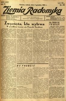 Ziemia Radomska, 1933, R. 6, nr 276