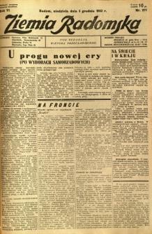 Ziemia Radomska, 1933, R. 6, nr 277