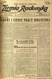 Ziemia Radomska, 1933, R. 6, nr 280