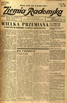 Ziemia Radomska, 1933, R. 6, nr 284