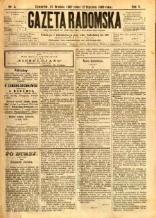 Gazeta Radomska, 1888, R. 5, nr 4