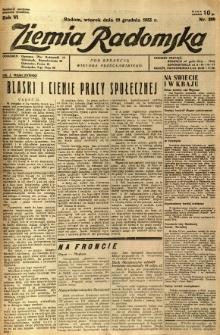 Ziemia Radomska, 1933, R. 6, nr 289