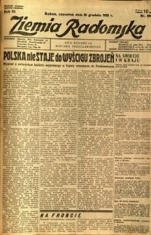 Ziemia Radomska, 1933, R. 6, nr 294