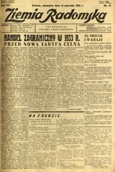 Ziemia Radomska, 1934, R. 7, nr 11