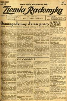 Ziemia Radomska, 1934, R. 7, nr 18