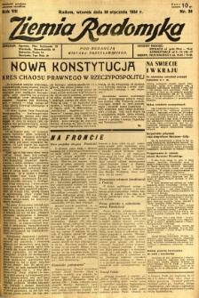 Ziemia Radomska, 1934, R. 7, nr 24