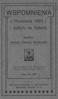 Wspomnienia z powstania 1863 r. i pobytu na Syberii
