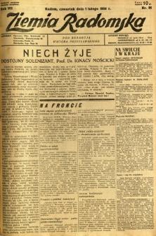 Ziemia Radomska, 1934, R. 7, nr 26