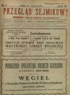 Przegląd Sejmikowy : Urzędowy Organ Sejmiku Radomskiego, 1932, R. 11, nr 1