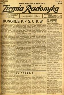 Ziemia Radomska, 1934, R. 7, nr 33