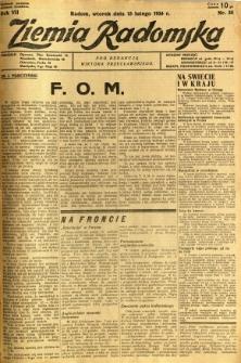 Ziemia Radomska, 1934, R. 7, nr 35