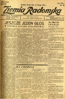 Ziemia Radomska, 1934, R. 7, nr 36