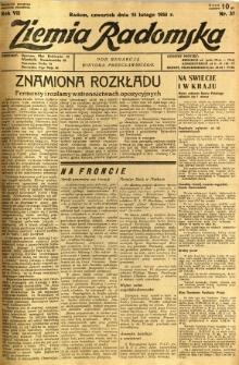 Ziemia Radomska, 1934, R. 7, nr 37