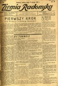 Ziemia Radomska, 1934, R. 7, nr 39