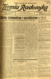 Ziemia Radomska, 1934, R. 7, nr 43