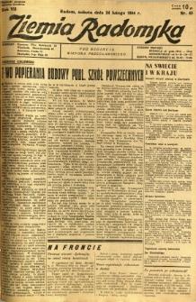 Ziemia Radomska, 1934, R. 7, nr 45