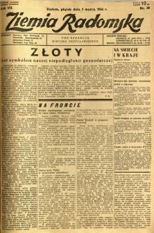 Ziemia Radomska, 1934, R. 7, nr 50