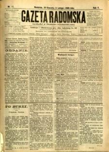 Gazeta Radomska, 1888, R. 5, nr 11