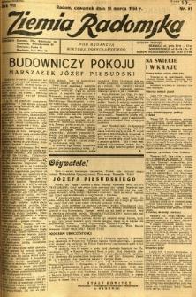 Ziemia Radomska, 1934, R. 7, nr 61