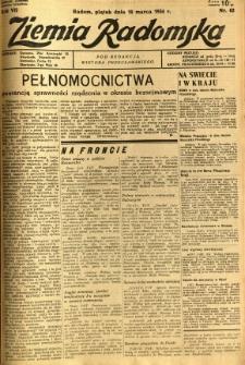 Ziemia Radomska, 1934, R. 7, nr 62