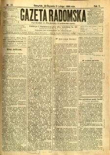 Gazeta Radomska, 1888, R. 5, nr 12