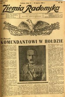 Ziemia Radomska, 1934, R. 7, nr 63
