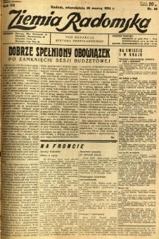 Ziemia Radomska, 1934, R. 7, nr 64