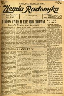 Ziemia Radomska, 1934, R. 7, nr 65