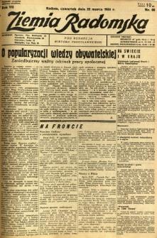 Ziemia Radomska, 1934, R. 7, nr 66