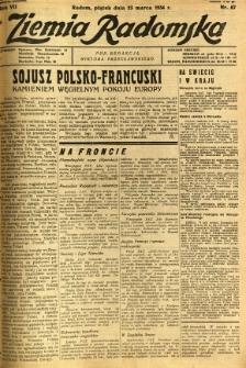 Ziemia Radomska, 1934, R. 7, nr 67