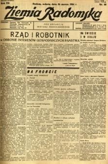 Ziemia Radomska, 1934, R. 7, nr 68