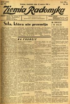 Ziemia Radomska, 1934, R. 7, nr 69