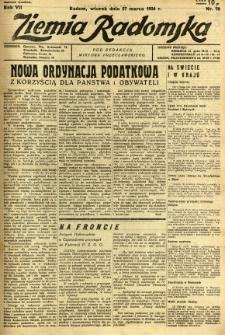 Ziemia Radomska, 1934, R. 7, nr 70