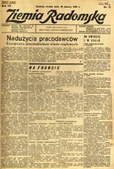 Ziemia Radomska, 1934, R. 7, nr 71